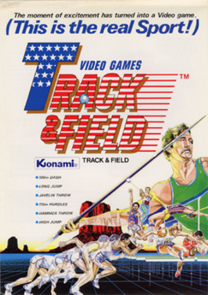 Track & Field (video game) - Image: Track&Field arcadeflyer