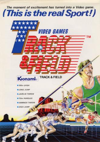 Track & Field (video game) - European arcade flyer