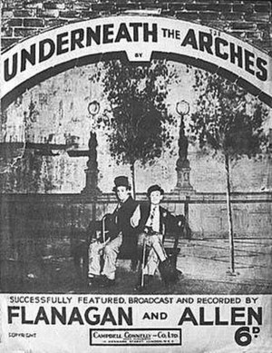 Underneath the Arches (song) - Sheet music