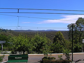 Woodford, New South Wales - View from Woodford Station