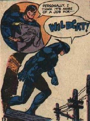 Wildcat (comics) - Wildcat in the 1940s; art by Irwin Hasen
