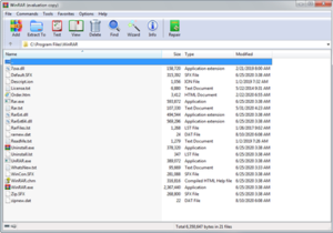 WinRAR 5.91 in Windows 7