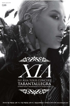 XIA 1st World Tour Concert - Promotional poster for the Asia leg of XIA 1st World Tour Concert