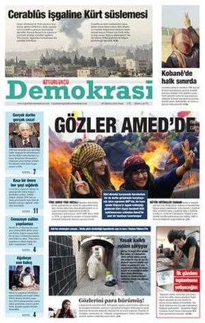 Özgürlükçü Demokrasi - Image: Özgürlükçü Demokrasi 2016 08 28