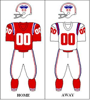 1960 Boston Patriots season - Image: AFC 1960 Uniform NE