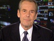 An ailing Jennings informs viewers of World News Tonight on April 5, 2005 that he has lung cancer in a taped message.