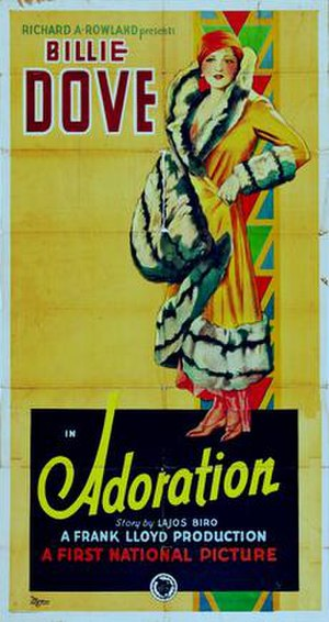 Adoration (1928 film) - Theatrical poster