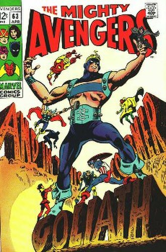 Hawkeye (comics) - Image: Avengers no. 63 (Marvel Comics 1969)