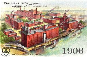P. Ballantine and Sons Brewing Company - Ballantine brewery in Newark, New Jersey 1906.