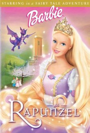 Barbie as Rapunzel - DVD cover