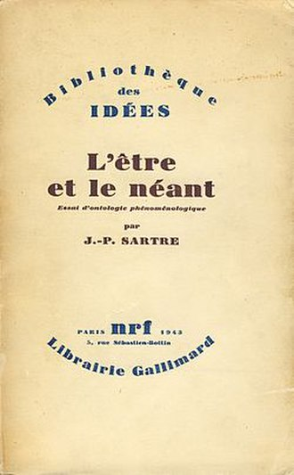 Being and Nothingness - Cover of the first edition
