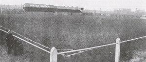 History of Blackpool F.C. (1887–1962) - Bloomfield Road in 1905, viewed from the south-east corner of the ground.
