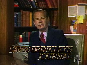 David Brinkley provided commentary several tim...