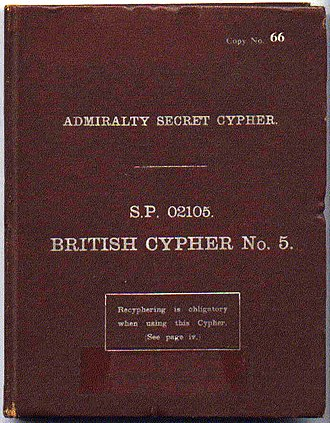 B-Dienst - Front cover of British Cypher No. 5 booklet