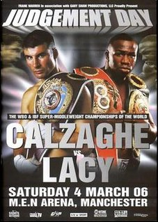 Joe Calzaghe vs. Jeff Lacy Boxing competition