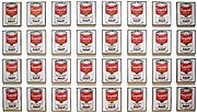 """Campbell's Soup Cans 1962 Synthetic polymer paint on thirty-two canvases, Each canvas 20 x 16"""" (50.8 x 40.6 cm), by Andy Warhol, Museum of Modern Art, New York"""