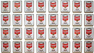 <i>Campbells Soup Cans</i> 1962 artwork by Andy Warhol