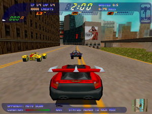 Carmageddon II: Carpocalypse Now - On the starting grid of the first level (Windows version)