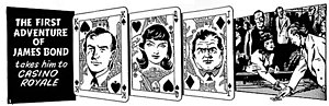 James Bond (comic strip) - The opening panel to Casino Royale. Illustration by John McLusky.
