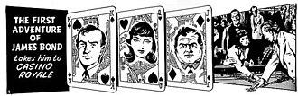 James Bond (comic strip) - The opening panel to Casino Royale. Illustration by John McLusky.