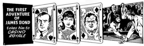 The opening panel to Casino Royale. Illustration by John McLusky