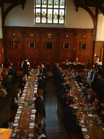 Communal dinner at Gonville and Caius College Communal dinner at Gonville and Caius.jpg