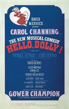 Image result for musical hello dolly opened in 1964
