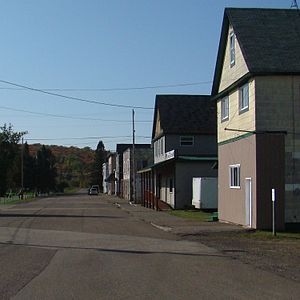 Ahmeek, Michigan - Hubbell Street, Downtown Ahmeek Village