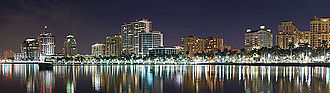 West Palm Beach, Florida - West Palm Beach skyline in 2010