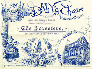 The Foresters - Programme for London production, 1893