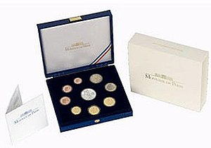 Euro proof sets - Image: France BE set B