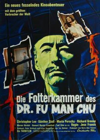 The Castle of Fu Manchu - German theatrical release poster