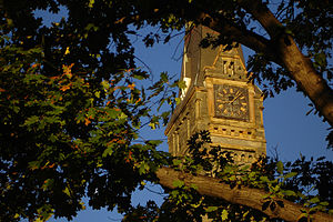 Healy Hall - Healy Clocktower is 200 ft (61 m) high.