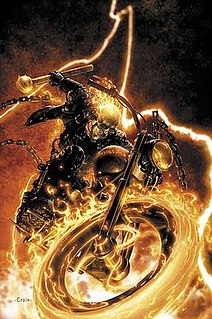 Ghost Rider (Johnny Blaze) Marvel Comics superhero, the second person to use the name Ghost Rider