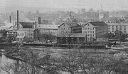 Goodyear Metallic Rubber Shoe Company & Downtown Naugatuck (c. 1900)