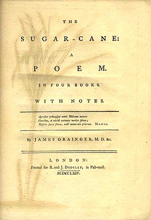 The Sugar Cane - The title page of the original edition