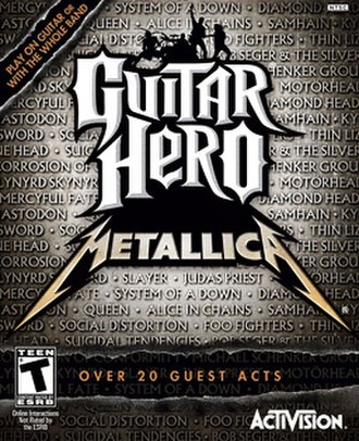 Guitar Hero: Metallica - Front cover for Guitar Hero: Metallica, with the corrected spelling of the band Lynyrd Skynyrd