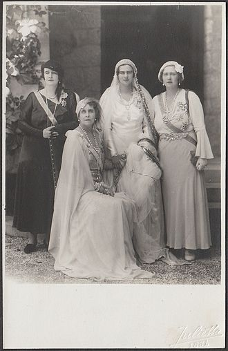 Elisabeth of Romania - At the wedding of sister, HRH Princess Ileana, in Sinaia on 26 July 1931.