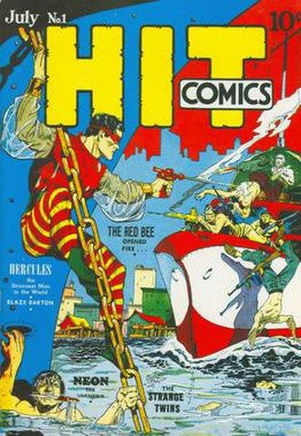 Red Bee (comics) - Image: Hit Comics 1