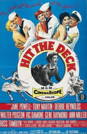 Hit the Deck (1955 film) - Theatrical release poster