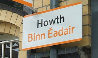 Howth railway station - Image: Howth sign