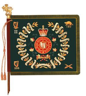 Irish Regiment of Canada - The regimental colour of 2nd Battalion, Irish Regiment of Canada.