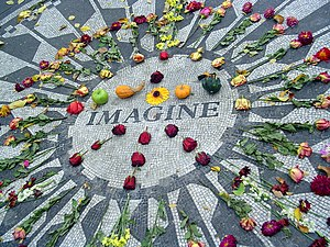 The Strawberry Fields Memorial in Central Park...