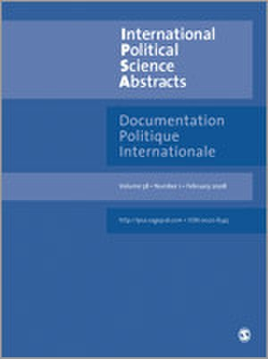 International Political Science Abstracts - Image: International Political Science Abstracts Journal Front Cover