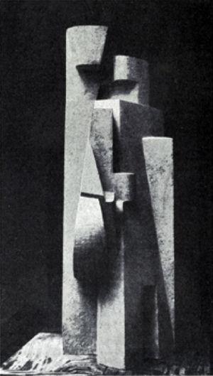 Jacques Lipchitz - Jacques Lipchitz, 1917, L'homme à la mandoline, 80 cm