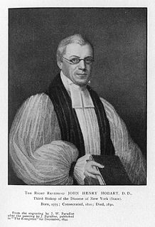 John Henry Hobart Episcopal Bishop of New York