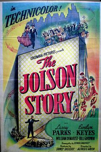 Al Jolson - original movie poster, 1946