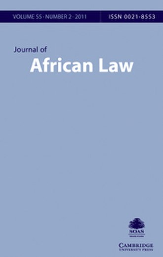 Journal of African Law - Image: Journal of African Law