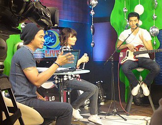 Kyle Alandy Amor - Image: Kyle Amor on Music Uplate Live with Hosts Yeng Constantino & Tutti Caringal in April 2010