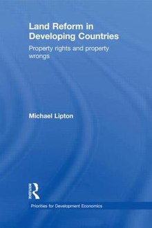 Land Reform in Developing Countries Property rights and property wrongs front cover.jpg